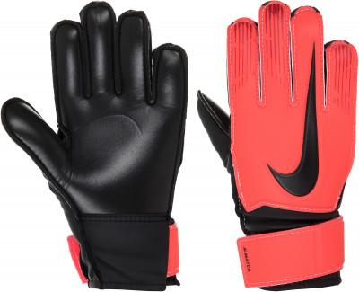 Перчатки вратарские детские Nike Junior Match Goalkeeper, размер 5Перчатки<br>Детские футбольные перчатки nike junior match goalkeeper позволяют удержать мяч в любую погоду: пеноматериал на основе латекса гарантирует отличное сцепление, а также смягча