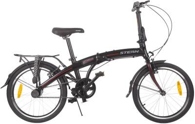 Stern Compact 3.0 20 (2017)Удобный и легкий велосипед-трансформер отлично подойдет как взрослым, так и подросткам. Легкость алюминиевая рама 6061 aluminium обеспечивает низкий вес велосипеда.<br>Материал рамы: Алюминиевый сплав; Амортизация: Rigid; Конструкция рулевой колонки: Неинтегрированная; Складная конструкция: Да; Размер в сложенном виде (дл. х шир. х выс), см: 83 х 35 х 67; Конструкция вилки: Жесткая; Количество скоростей: 2; Конструкция педалей: Классические; Тип переднего тормоза: Ободной; Тип заднего тормоза: Ободной; Диаметр колеса: 20; Тип обода: Одинарный; Материал обода: Алюминий; Наименование покрышек: WANDA P1026 20x1,75; Конструкция руля: Изогнутый; Регулировка руля: Да; Регулировка седла: Да; Сезон: 2017; Максимальный вес пользователя: 85 кг; Вид спорта: Велоспорт; Технологии: 6061 Aluminium, Sram Automatix; Производитель: Stern; Артикул производителя: 16COMP399; Срок гарантии: 2 года; Вес, кг: 13,4; Страна производства: Китай; Размер RU: 155-190;
