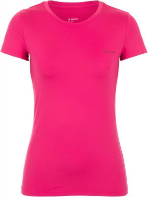 Футболка женская Demix, размер 50Футболки<br>Практичная женская футболка для фитнес-тренировок от demix. Комфортная посадка приталенный крой и эластичный материал гарантируют удобство во время занятий спортом.