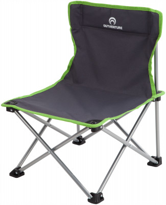 Стул OutventureСкладной кемпинговый стул со спинкой. Удобство хранения и транспортировки отличается небольшим весом и размером в сложенном виде.<br>Максимальная нагрузка, кг: 60; Размер в рабочем состоянии (дл. х шир. х выс), см: 41 х 32,5 х 55; Размер в сложенном виде (дл. х шир. х выс), см: 13 х 56; Вес, кг: 1,7; Материал каркаса: Сталь; Материал сидушки: Поливинилхлорид; Вид спорта: Кемпинг; Производитель: Outventure; Срок гарантии: 2 года; Размер RU: Без размера;