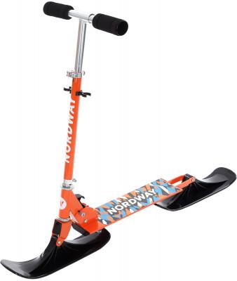Снежный скутер NordwayДетский скутер для езды по снегу. Малый вес облегченная конструкция из стали.<br>Максимальный вес пользователя: 50 кг; Габаритный размер: 96 х 31,6 х 88 см; Количество мест: 1; Амортизация: Нет; Морозоустойчивость: До -25; Наличие буксировочного троса: Нет; Смотка троса: Нет; Вес, кг: 2,5; Вид спорта: Санки и снегокаты; Производитель: Nordway; Артикул производителя: ENDSS02100; Срок гарантии: 1 год; Страна производства: Китай; Размер RU: Без размера;