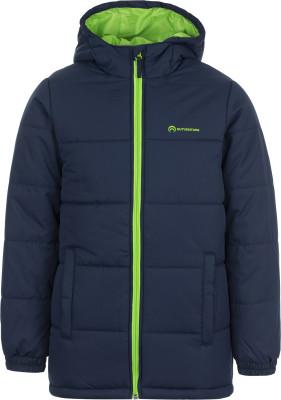 Куртка утепленная для мальчиков OutventureУтепленная куртка для мальчиков от outventure подойдет для походов и активного отдыха на свежем воздухе.<br>Пол: Мужской; Возраст: Дети; Вид спорта: Походы; Вес утеплителя на м2: 200 г/м2; Наличие мембраны: Нет; Наличие чехла: Нет; Возможность упаковки в карман: Нет; Регулируемые манжеты: Нет; Защита от ветра: Да; Покрой: Прямой; Светоотражающие элементы: Нет; Дополнительная вентиляция: Нет; Проклеенные швы: Нет; Длина куртки: Средняя; Наличие карманов: Да; Капюшон: Не отстегивается; Количество карманов: 2; Артикулируемые локти: Нет; Застежка: Молния; Технологии: ADD DRY Water Resistant; Производитель: Outventure; Артикул производителя: UJAB06Z411; Страна производства: Китай; Материал верха: 100 % полиэстер; Материал подкладки: 100 % полиэстер; Материал утеплителя: 100 % полиэстер; Размер RU: 116;