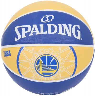 Мяч баскетбольный Spalding Golden StateБаскетбольный мяч для тренировок: подойдет игрокам с разным уровнем подготовки. Украшен логотипом баскетбольного клуба golden state warriors.<br>Сезон: 2017; Возраст: Взрослые; Вид спорта: Баскетбол; Тип поверхности: Универсальные; Назначение: Любительские; Материал покрышки: Резина; Материал камеры: Резина; Способ соединения панелей: Клееный; Количество панелей: 8; Производитель: Spalding; Артикул производителя: 83-304Z; Страна производства: Китай; Размер RU: 7;