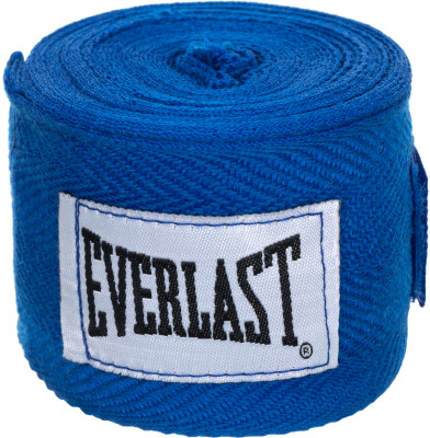Бинты Everlast 2,5 м, 2 шт.Бинты everlast предназначены для защиты суставов во время работы в боксерских перчатках. Использование бинтов помогает избежать растяжений и вывихов.<br>Длина: 2,5 м; Материалы: 65 % хлопок, 35 % полиэстер; Тип фиксации: Липучка; Вид спорта: Бокс; Производитель: Everlast; Артикул производителя: 4465; Срок гарантии: 15 дней; Размер RU: Без размера;