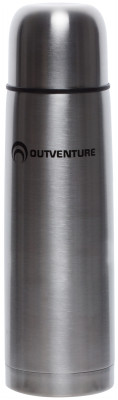 Термос Outventure, 0,5 лСохраняет напитки горячими или холодными долгое время. Крышка может быть использована как чашка. Пробка с кнопкой позволяет наливать напитки, не открывая термос целиком.<br>Размер в рабочем состоянии (дл. х шир. х выс), см: 7 х 7 х 25; Объем: 0,5; Вид спорта: Кемпинг, Походы; Производитель: Outventure; Артикул производителя: IE52902; Срок гарантии: 5 лет; Страна производства: Китай; Размер RU: Без размера;