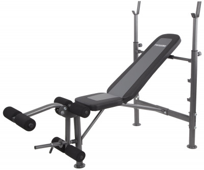 Скамья со стойками Torneo LibertaУниверсальная скамья для выполнения силовых упражнений со штангой. Большие мягкие валики блока для ног облегчают работу с большими весами.<br>Тренируемые группы мышц: Руки, плечи, грудь, спина, ноги, пресc; Максимальная нагрузка на стойки для штанги, кг: 120; Максимальный вес пользователя: 160 кг; Регулировки: Наклон спинки, высота стойки; Особенности: Блины и грифы не входят в комплект; Расстояние между стойками: 73 см; Размер в рабочем состоянии (дл. х шир. х выс), см: 168 x 77 x 124,5; Вес, кг: 20,5; Вид спорта: Силовые тренировки; Технологии: ErgoPad, EverProof; Производитель: Torneo; Артикул производителя: G-308; Срок гарантии: 2 года; Страна производства: Китай; Размер RU: Без размера;