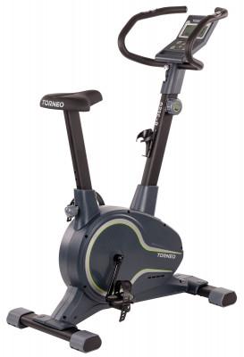 Велотренажер магнитный Torneo VitaФункциональный велотренажер рассчитан как на новичков с физической подготовкой начального уровня, так и на спортсменов со стажем.<br>Система нагружения: Магнитная; Масса маховика: 8 кг; Регулировка нагрузки: Механическая; Нагрузка: 10 уровней; Измерение пульса: Датчики на поручнях; Питание тренажера: Батарейки; Максимальный вес пользователя: 120 кг; Комфортная ростовка, см: 150-195; Время тренировки: Есть; Скорость: Есть; Пройденная дистанция: Есть; Скорость вращения педалей: Есть; Израсходованные калории: Есть; Температура в помещении: Есть; Пульс: Есть; Хранение данных о пользователях: 9 пользователей; Целевые тренировки (CountDown): Есть; Дополнительные функции: Фитнес-тест, жироанализатор, часы, календарь; Регулировка руля: Есть; Регулировка сиденья: Вертикальная; Подставка для аксессуаров: Держатель для бутылки, подставка для книги; Транспортировочные ролики: Есть; Компенсаторы неровности пола: Есть; Дополнительно: регулируемый многопозиционный руль; Размер в рабочем состоянии (дл. х шир. х выс), см: 94 x 51 x 130; Вес, кг: 32; Вид спорта: Кардиотренировки; Технологии: EverProof, ExaMotion, Stabilita; Производитель: Torneo; Артикул производителя: B-352G; Срок гарантии: 2 года; Страна производства: Китай; Размер RU: Без размера;