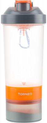 Шейкер для спортивного питания TorneoТри независимых контейнера для хранения порошковых смесей, капсул и жидкости. Большой объем 600 мл. Идеальное смешивание благодаря внутренней сеточке.<br>Состав: Пластик; Объем: 0,6 л; Вид спорта: Фитнес; Производитель: Torneo; Артикул производителя: A-360R; Размер RU: Без размера;
