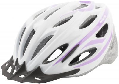 Шлем велосипедный женский CyclotechЖенский велосипедный шлем, изготовленный по технологии outmold, которая обеспечивает хорошее сочетание невысокой цены и достаточной технологичности.<br>Конструкция: OutMold; Регулировка размера: Да; Тип регулировки размера: Поворотное кольцо; Материал внешней раковины: Пластик; Материал внутренней раковины: Вспененный пенополистирол; Материал подкладки: Нейлон; Сертификация: EN 1078; Вентиляция: Принудительная; Производитель: Cyclotech; Артикул производителя: CHHY15W-L.; Срок гарантии: 6 месяцев; Страна производства: Китай; Размер RU: 58-62;