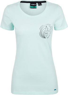 Футболка женская Termit, размер 52Surf Style <br>Удобная и легкая футболка от termit - отличный выбор для активного отдыха на пляже. Свобода движений прямой крой позволяет двигаться свободно.