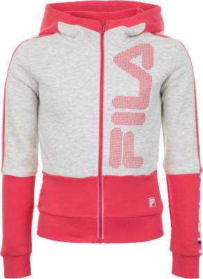 Джемпер для девочек Fila, размер 128Джемперы<br>Джемпер fila для девочек, которые в одежде предпочитают спортивный стиль. Натуральные материалы натуральный воздухопроницаемый хлопок обеспечивает комфорт.