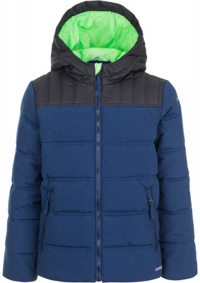 Куртка утепленная для мальчиков IcePeak RimoКуртка для мальчиков icepeak rimo - удачный выбор для поездок и долгих прогулок.<br>Пол: Мужской; Возраст: Дети; Вид спорта: Путешествие; Вес утеплителя на м2: 250 г/м2; Наличие чехла: Нет; Возможность упаковки в карман: Нет; Длина по спинке: 62 см; Водонепроницаемость: 10 000 мм; Паропроницаемость: 5000 г/м2/24 ч; Покрой: Прямой; Дополнительная вентиляция: Нет; Проклеенные швы: Нет; Капюшон: Не отстегивается; Мех: Отсутствует; Количество карманов: 2; Водонепроницаемые молнии: Нет; Технологии: Children's safety, Icetech 10 000/5 000, Reflectors; Производитель: IcePeak; Артикул производителя: 50125805XV; Страна производства: Китай; Материал верха: 100 % полиэстер; Размер RU: 152;