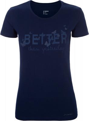 Футболка женская Demix, размер 50Футболки<br>Комфортная футболка demix, выполненная в спортивном стиле. Натуральные материалы ткань, выполненная из натурального хлопка со спандексом, приятна на ощупь.