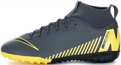 Бутсы для мальчиков Nike Mercurial Superfly 6 Academy GS TF, размер 35,5Бутсы<br>Удобные и надежные детские бутсы nike jr. Superflyx 6 academy tf с продуманным сетчатым верхом - это комфорт и уверенность во время матча.