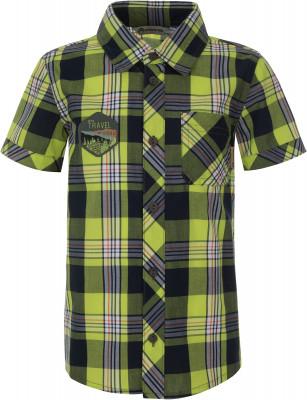 Рубашка с коротким рукавом для мальчиков Outventure, размер 110Рубашки<br>Рубашка с коротким рукавом outventure - идеальный вариант для самых маленьких путешественников.