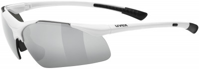 Солнцезащитные очки Uvex Sportstyle 223Удобная модель с хорошим обзором в лаконичном дизайне. Идеальная защита от брызг и ветра.<br>Возраст: Взрослые; Пол: Мужской; Цвет линз: Серебристый; Цвет оправы: Белый; Назначение: Бег, велоспорт; Вид спорта: Бег, Велоспорт; Ультрафиолетовый фильтр: Да; Поляризационный фильтр: Нет; Зеркальное напыление: Да; Категория фильтра: 3; Материал линз: Поликарбонат; Оправа: Пластик; Технологии: LITEMIRROR; Производитель: Uvex; Артикул производителя: S5309828816; Срок гарантии: 1 месяц; Страна производства: Китай; Размер RU: Без размера;