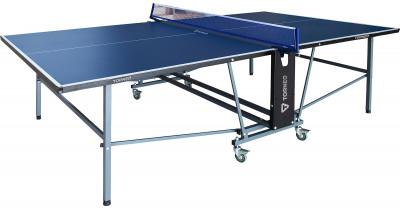 Теннисный стол всепогодный TorneoВсепогодный складной стол для настольного тенниса. Игровая поверхность покрыта двумя слоями всепогодной краски. Размер в игровом положении: 274 х 152. 5 х 76 см.<br>Размер в рабочем состоянии (дл. х шир. х выс), см: 274 х 152,5 х 76 см; Размер в сложенном виде (дл. х шир. х выс), см: 165 х 174 х 61; Вес, кг: 61; Складная конструкция: Есть; Блокиратор в механизме складывания: Есть; Труба: Квадратная; Диаметр трубы: 30 x 30 мм; Материал каркаса: Сталь; Толщина игровой плиты, мм: 6; Позиция Playback: Есть; Антибликовое покрытие: Есть; Игровая поверхность: Алюминий, пластик; Транспортировочные ролики: Есть; Блокиратор колес: Есть; Диаметр колес: 7,5 см; Материал колес: Сталь, резина; Вид спорта: Настольный теннис; Технологии: Sandwich; Производитель: Torneo; Артикул производителя: TTI23-02M; Срок гарантии: 2 года; Страна производства: Китай; Размер RU: Без размера;