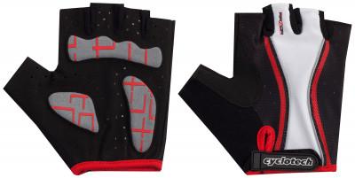 Велосипедные перчатки Cyclotech RazorПрочные удобные перчатки отлично вентилируются, не дают руке скользить и хорошо садятся по руке.<br>Материал верха: Сетчатая ткань; Материал подкладки: Искусственная кожа; Тип фиксации: Липучка; Производитель: Cyclotech; Артикул производителя: 15RAZ-RS; Срок гарантии: 6 месяцев; Страна производства: Пакистан; Размер RU: 6;