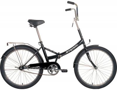 Велосипед складной Stern Travel 24Компактный велосипед с большими 24-дюймовыми колесами отлично подойдет для катания в городе. Модель рассчитана как на взрослого, так и на подростка.<br>Материал рамы: Сталь; Амортизация: Rigid; Конструкция рулевой колонки: Неинтегрированная; Складная конструкция: Да; Размер в сложенном виде (дл. х шир. х выс), см: 87 x 64 x 11; Конструкция вилки: Жесткая; Конструкция педалей: Классические; Тип заднего тормоза: Ножной; Диаметр колеса: 24; Тип обода: Одинарный; Материал обода: Алюминий; Наименование покрышек: WANDA P1023, 20x1,95; Конструкция руля: Изогнутый; Регулировка руля: Есть; Регулировка седла: Есть; Сезон: 2017; Максимальный вес пользователя: 100 кг; Вид спорта: Велоспорт; Технологии: Hi-ten steel; Производитель: Stern; Артикул производителя: 13TRV24ME; Срок гарантии: 2 года; Вес, кг: 18,5; Страна производства: Россия; Размер RU: Без размера;