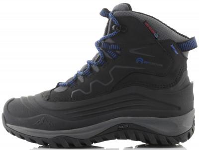 Ботинки утепленные для мальчиков Outventure FrostwaterТехнологичные детские ботинки для активного зимнего отдыха на природе.<br>Пол: Мужской; Возраст: Дети; Вид спорта: Походы; Мембранная ткань: Да; Вес утеплителя: 200 г/м2; Способ застегивания: Шнуровка; Защита мыска: Да; Усиленный бампер: Да; Материал верха: 37 % термопластичный полиуретан, 36 % полиэстер, 26 % натуральная кожа, 1 % полиуретан; Материал подкладки: 100 % полиэстер; Материал стельки: 100 % полиэстер; Материал подошвы: Этиленвинилацетат, искусственная резина; Технологии: ADD WARM, Thermolite, Термостелька; Производитель: Outventure; Артикул производителя: UHI0069939; Страна производства: Китай; Размер RU: 39;