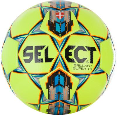 Мяч футбольный Select Brilliant Super TBФутбольный мяч для игры на газоне. Покрышка изготовлена из высококачественной микрофибры. Панели соединены методом термической склейки.<br>Сезон: 2017/2018; Возраст: Взрослые; Вид спорта: Футбол; Тип поверхности: Для игры на газоне; Назначение: Профессиональные; Материал покрышки: Синтетическая кожа; Материал камеры: Натуральный латекс; Способ соединения панелей: Клееный; Количество панелей: 32; Вес, кг: 0,43; Технологии: Zero-Wing bladder; Производитель: Select; Артикул производителя: 810316; Срок гарантии: 6 месяцев; Страна производства: Пакистан; Размер RU: 5;