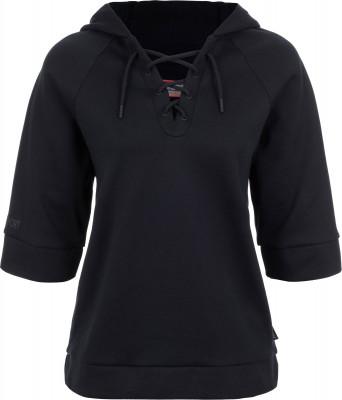 Джемпер женский Kappa, размер 46Джемперы<br>Для девушек, которые хотят выделиться из толпы - эффектный джемпер в спортивном стиле от kappa. Уникальный дизайн оригинальный крой и шнуровка на груди привлекают внимание.