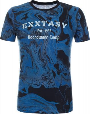 Футболка мужская Exxtasy Watsonvile, размер 48-50Surf Style <br>Мужская футболка с принтом от exxtasy подойдет для яркого летнего отдыха. Комфортная посадка зауженный крой гарантирует удобство и позволяет двигаться естественно.