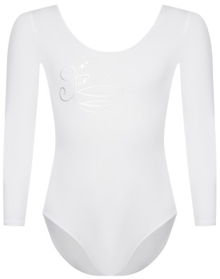 Купальник гимнастический с длинным рукавом для девочек Demix, размер 134