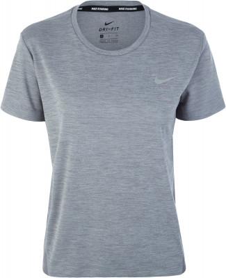 Футболка женская Nike Miler, размер 48-50Футболки<br>Для девушек, которые готовы к любой дистанции, создана беговая футболка nike miler.