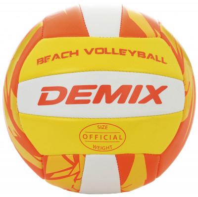 Мяч для пляжного волейбола DemixМяч для пляжного волейбола и игр на открытом воздухе. Специально для пляжа благодаря шитой конструкции мяч устойчив к влаге и не деформируется при контакте с водой.<br>Сезон: 2017/2018; Возраст: Взрослые; Вид спорта: Волейбол; Тип поверхности: Для пляжа; Назначение: Любительские; Материал покрышки: Синтетическая кожа; Материал камеры: Резина; Способ соединения панелей: Машинная сшивка; Количество панелей: 18; Вес, кг: 0,260-0,280; Производитель: Demix; Артикул производителя: VMPVCTRE15; Срок гарантии: 2 месяца; Страна производства: Китай; Размер RU: 5;