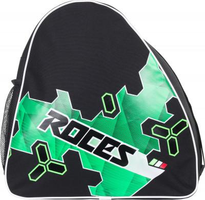 Сумка для роликов детская RocesУдобная сумка подойдет для переноски и хранения как роликовых, так и ледовых коньков.<br>Размеры (дл х шир х выс), см: 37 x 21 x 38; Объем: 25 л; Количество отделений: 1; Количество карманов: 1; Материал верха: 100 % полиэстер; Материал подкладки: 100 % полиэстер; Вид спорта: Роликовые коньки; Производитель: Roces License; Артикул производителя: ERCRO004BB; Срок гарантии: 2 года; Страна производства: Китай; Размер RU: Без размера;