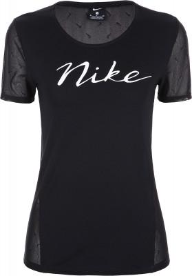 Футболка женская Nike Pro, размер 42-44Футболки<br>Удобная воздухопроницаемая футболка для занятий фитнесом от nike. Свобода движений крой рассчитан на интенсивные движения.