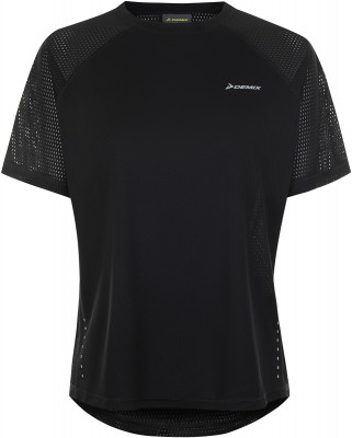Фото 4 - Футболку женская Demix, размер 44 черного цвета