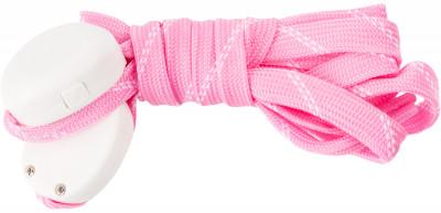 Шнурки светодиодные детские I-JumpШнурки со встроенными светодиодами разработаны специально для увеличения безопасности при занятии спортом в условиях плохой видимости.<br>Пол: Мужской; Возраст: Дети; Вид спорта: Аксессуары; Материалы: 35 % нейлон, 20 % пластик, 18 % полиэтилентерефталат, 10 % провод МГТФ, 10 % светодиоды, 7 % картон; Длина: 90 см; Производитель: I-Jump; Артикул производителя: ND-004-090-PN; Страна производства: Китай; Размер RU: 90;