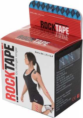Кинезио-тейп Rocktape 5 см х 5 м, синийТейпы<br>Rocktape на клеевой основе помогает в восстановлении и предотвращении травм.