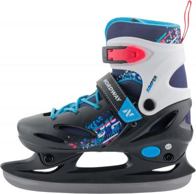 Nordway Jumper (детские)Ледовые коньки<br>Яркие коньки для мальчиков с раздвижной системой регулировки размера и ударопрочной конструкцией. Модель рассчитана на начальный уровень.