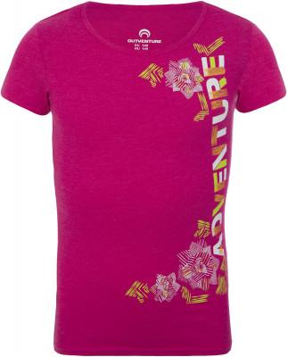 Футболка для девочек Outventure, размер 158Футболки и майки<br>Яркая футболка для девочек от outventure - удачный выбор для активного отдыха на природе. Комфортная посадка приталенный крой гарантирует удобство во время носки.