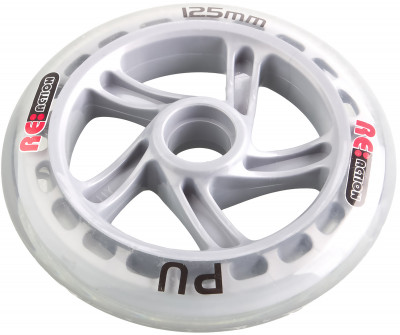 Колесо для самоката REACTION 125 ммЗапасное колесо для самоката - диаметр 125 мм. Хорошо поглощает неровности дорожного покрытия.<br>Пол: Мужской; Возраст: Взрослые; Вид спорта: Самокаты; Материалы: Полиуретан, пластик; Диаметр: 125 мм; Вес, кг: 0,3; Производитель: REACTION; Артикул производителя: RSW125; Срок гарантии: 6 месяцев; Страна производства: Китай; Размер RU: Без размера;