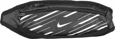 Сумка на пояс NikeПоясная сумка от nike пригодится во время пробежек. Практичность два отделения на молнии подойдут для хранения мелочей.<br>Пол: Мужской; Возраст: Взрослые; Вид спорта: Бег; Производитель: Nike ABM; Артикул производителя: N.RL.95-037; Страна производства: Китай; Материал верха: 55 % нейлон, 42 % полиэстер; Материал подкладки: 100 % нейлон; Размер RU: Без размера;