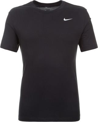 Футболка мужская Nike Dri-FIT, размер 46-48Футболки<br>Футболка для тренинга nike dri-fit из мягкой влагоотводящей ткани сделает занятия спортом максимально эффективными.