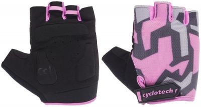 Перчатки велосипедные Cyclotech RazorВелосипедные перчатки cyclotech не дают рукам скользить на руле. Особенности модели: гасят неприятные вибрации; комфортная посадка; хорошая вентиляция.<br>Возраст: Взрослые; Пол: Женский; Размер: 7; Материал верха: 50 % искусственная кожа, 35 % эластан, 15 % нейлон; Тип фиксации: Липучка; Производитель: Cyclotech; Артикул производителя: 15RAZ-B-M; Страна производства: Пакистан; Размер RU: 7;