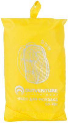 Накидка на рюкзак Outventure, 50-70 лГермочехол на рюкзак объемом 50-75 литров. Обеспечивает дополнительную защиту от дождя. Изготовлен из водонепроницаемой ткани с водостойкостью 1200 мм.<br>Пол: Мужской; Возраст: Взрослые; Вид спорта: Кемпинг, Походы; Материалы: 100 %полиэстер; Размеры (дл х шир х выс), см: 15 х 19 х 5; Вес, кг: 240; Производитель: Outventure; Артикул производителя: IE602361; Срок гарантии: 1 год; Страна производства: Китай; Размер RU: Без размера;