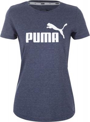 Футболка женская Puma Ess+ Logo Heather Tee, размер 42-44Футболки<br>Заверши свой спортивный образ классической футболкой от puma. Устойчивость к износу ткань, выполненная из сочетания хлопка и полиэстера, хорошо сохраняет форму.