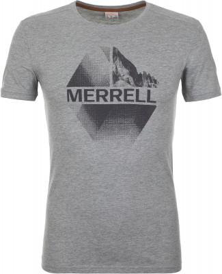 Футболка мужская Merrell, размер 56Футболки<br>Удобная футболка из смесовой ткани от merrell пригодится в путешествиях. Натуральные материалы натуральный хлопок делает ткань мягкой и воздухопроницаемой.