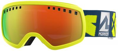 Маска горнолыжная детская Marker 4:3Маски<br>Детская горнолыжная маска marker 4: 3 - отличный выбор для неяркого солнца. Защита от царапин благодаря специальному покрытию линза устойчива к появлению царапин.