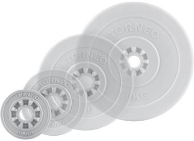 Блин Torneo в пластиковом корпусе 0,5 кгКомпозитные диски. Могут быть использованы как с грифами из абс-пластика, так и со стальными грифами. Посадочный диаметр: 30 мм.<br>Посадочный диаметр: 31 мм; Внешний диаметр: 135 мм; Толщина: 23 мм; Материал диска: Пластик; Покрытие: Пластик; Вес, кг: 0,5; Вид спорта: Силовые тренировки; Производитель: Torneo; Артикул производителя: 1008-5; Срок гарантии: 5 лет; Страна производства: Китай; Размер RU: Без размера;