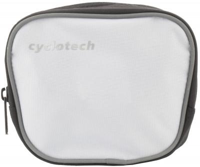 Сумка CyclotechВелосипедная сумка. Особенности модели: крепление на руль; подходит для необходимых мелочей; размеры: 15 см х 13 см х 6 см; быстрая и легкая установка.<br>Объем: 0,1 л; Размеры (дл х шир х выс), см: 15 x 13 x 6; Материалы: 100 % полиэстер; Вид спорта: Велоспорт; Производитель: Cyclotech; Артикул производителя: CYC-7W.; Страна производства: Китай; Размер RU: Без размера;
