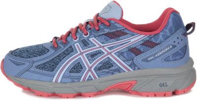 Кроссовки для девочек ASICS Gel-Venture 6 GS, размер 32,5Кроссовки <br>Комфортные и надежные кроссовки asics gel-venture 6 - лучший выбор для новичков, которые осваивают бег по пересеченной местности.
