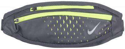 Сумка на пояс NikeПоясная сумка от nike пригодится во время пробежек.<br>Пол: Мужской; Возраст: Взрослые; Вид спорта: Бег; Размеры (дл х шир х выс), см: 38 х 11 х 2; Материал верха: 67 % нейлон, 33 % полиэстер; Материал подкладки: 100 % нейлон; Производитель: Nike; Артикул производителя: N.RL.92-057; Страна производства: Китай; Размер RU: Без размера;
