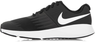 Кроссовки для мальчиков Nike Star RunnerБеговые кроссовки с эластичным верхом и технологичной подошвой от nike - отличный выбор для юных любителей бега.<br>Пол: Мужской; Возраст: Дети; Вид спорта: Бег; Способ застегивания: Шнуровка; Материал верха: 47 % кожа, 36 % синтетическая кожа, 17 % текстиль; Материал подкладки: 100 % текстиль; Материал подошвы: 100 % резина; Производитель: Nike; Артикул производителя: 907254-001; Страна производства: Вьетнам; Размер RU: 38;